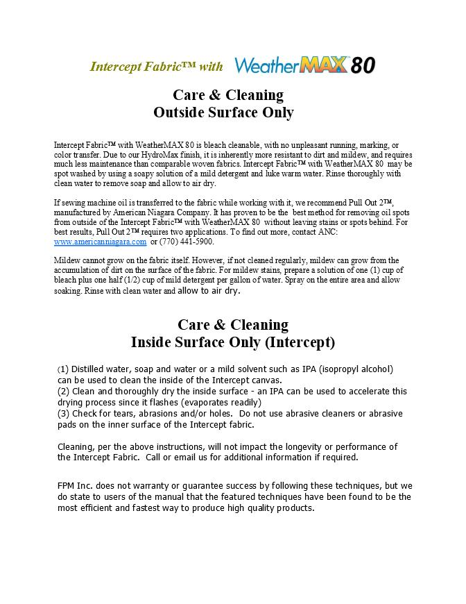 Care and Cleaning